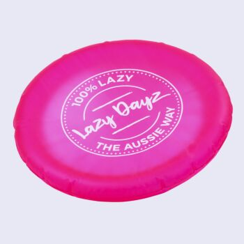 Lazy Dayz Inflatable Frisbee - Pink