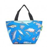 Eco Chic Blue Sea Creatures Lunch Bag