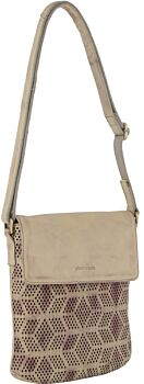 Pierre Cardin Perforated Leather Ladies Cross-Body Bag with flap