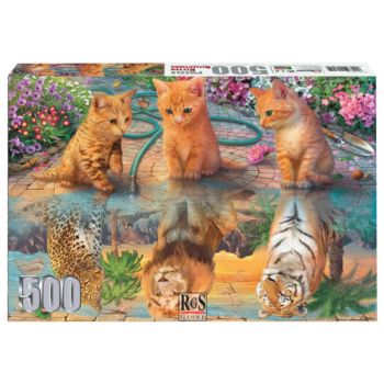 Kitten Reflections 500 piece Jigsaw Puzzle | Kittens dreaming of what they want to become!