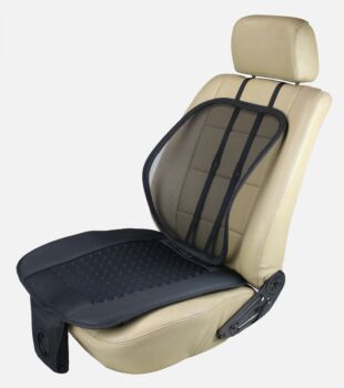 ObboMed 24V Truck AeroSeat, Air Flow Seat Cushion with Adjustable Lumbar Support