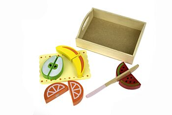 WOODEN FOOD TRAY - FRUIT