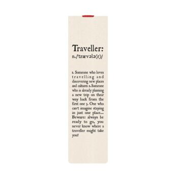 Bookmark With Elastic Band - Traveller