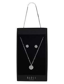 Barcs Australia Women's Silver Plated Earring And Necklace Box Set