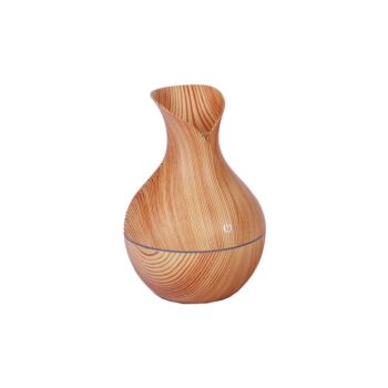 USB Wood Grain Ultrasonic Essential Oil Diffuser, Colour Changing