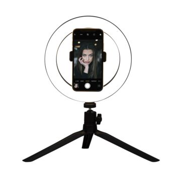 20cm LED Selfie Ring Light with Stand and Phone Holder Circle Lightning