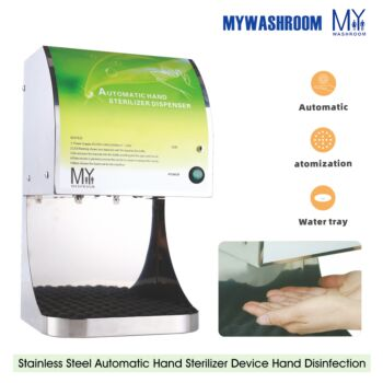 Automatic Alcohol Spray Hand Disinfectants Hygienic Sanitizer Stainless Steel Dispenser