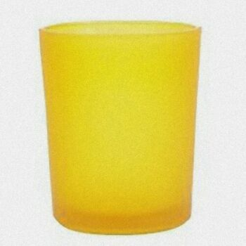 24 Pack - Yellow Frosted Glass Function Table Tealight Votive Candle Holder - Anniversary Wedding Party Table Decoration