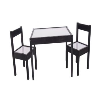 Kids Table and Chairs - Espresso