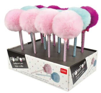 Pom Pom Pen -  3 Colours - Display Pack of 12 Pieces