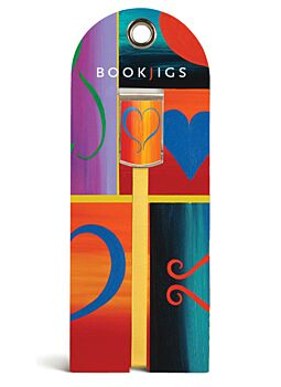 Bookjig Ribbon Bookmarks Painted Heart
