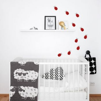 Ladybirds Wall Decal RED