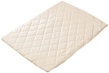 Quilted Travel Cot Fitted Padded Sheet Cream