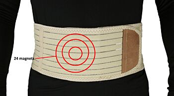 ObboMed Magnetic Heat Lumbar Back Support Belt with Far-Infrared & 24 Magnets