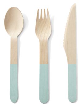 Back to Nature Birch Cutlery (Mint Handle) - 24pc