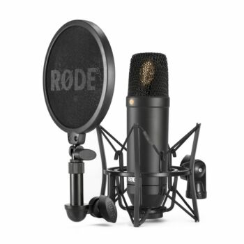 Rode Wired XLR Studio Low Noise Condenser Microphone NT1 KIT Cardioid Black