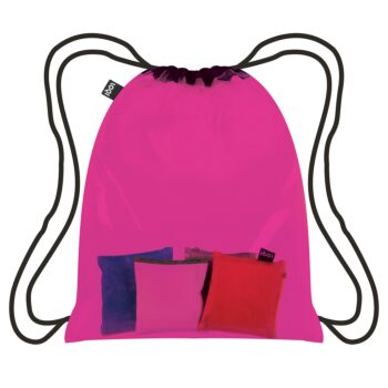 LOQI : Backpack Transparent Collection - Pink