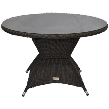 HAWTHORN - Outdoor Wicker Round Dining Table 120cm