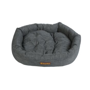 Charlie's Pet The Great Dane Dog Bed with Bolster Round Grey