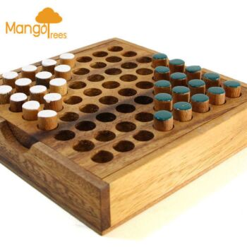 MANGO TREES Head to Head Pin - Classic Wood 3D Logic Wooden Family Board Games P