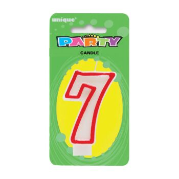 Number Candle 7 - Red