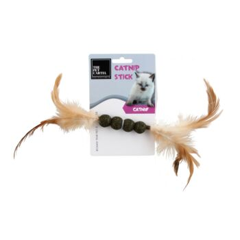The Pet Cartel Catnip Stick Ball With Feather