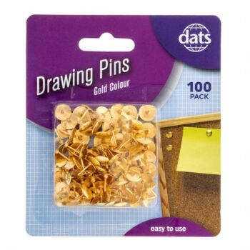 Pin Drawing Gold 100 Pack