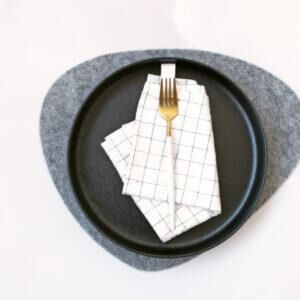 THE JOINERY   Place Mat Set of 4 - Pebble - Grey