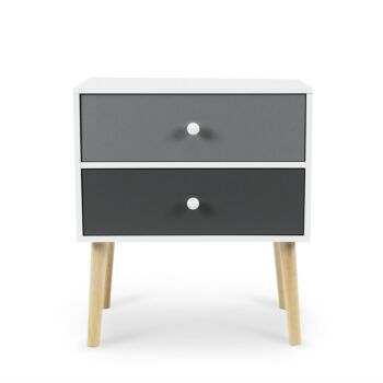 Iverson Bedside Table With 2 Drawers