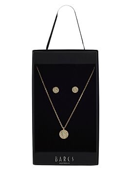 Barcs Australia Women's Rose Gold Plated Earring And Necklace Box Set