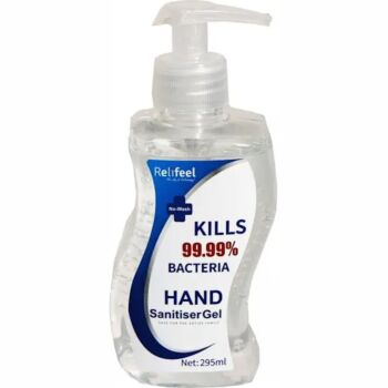 ReliFeel Hand Sanitiser 295ml 72% Alcohol Quick Dry Instant Hand Wash