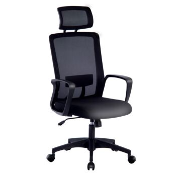 Office Chair Computer Mesh Desk Chair with Armrests Headrest Height Adjustable Chair