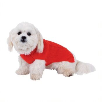 Dog Sweater Cable Girl , 40cm, 3Asst Clrs ,