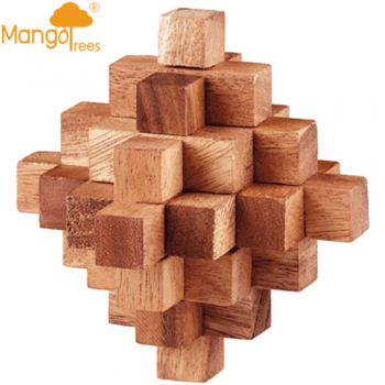 """MANGO TREES """"Meteor Star"""" Puzzle - Solid Wood Wooden 3D Brain Teaser Puzzles"""