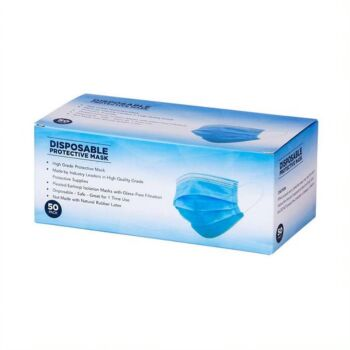 DISPOSABLE PROTECTIVE FACE MASK (50PACK)