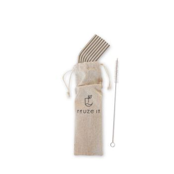 Stainless Steel Straws Silver - (Bent)