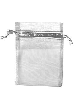 Organza Bag Silver with pull tie ribbon