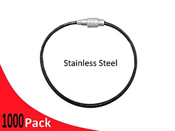 Tag Wire Black Coated 1.5mm 150mm G316 Stainless Steel