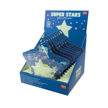 Super Stars - Set of 24 Glow In The Dark Stars - Display Pack of 10 Pieces