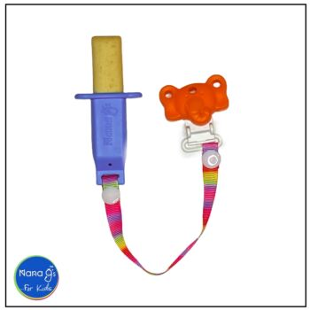 Nana gs Rusk and Fruit Stick Holders - Blue with Orange Clip
