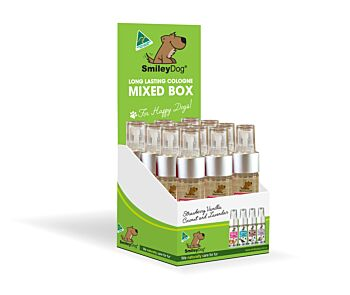 Smiley Dog Long Lasting Mini Pet Colognes Box with 4 types x 4 (16 units)