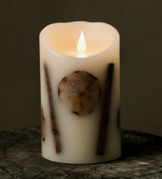 Apple Slice & Cinnamon 3D Flickering Flame LED Candle