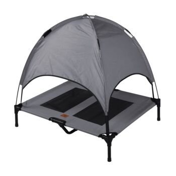 Charlie's Pet Elevated Bed with Tent - Light Grey