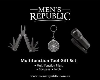 Men's Republic Gift Pack - Multifunction Pliers and Torch