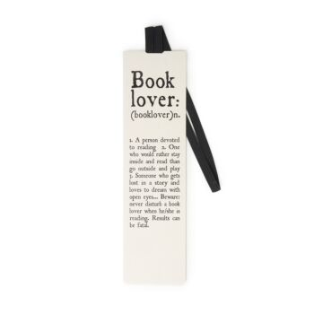 Bookmark With Elastic Band - Book Lover
