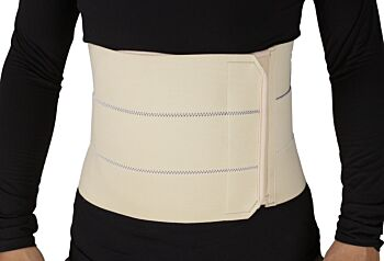 ObboMed 3-Panel Abdominal Binder for Injuries Support, Post Pregnancy, Post-Surgical, Hernia, Belly Wrap Brace,Trimming Waist