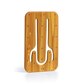 Flexistand - Plastic Phone Stand - Wood