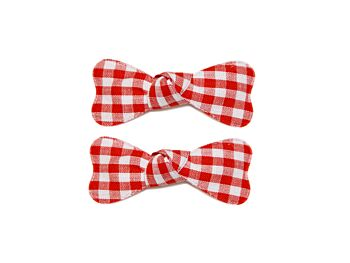GINGHAM BOW SNAPS
