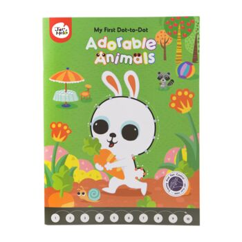 MY FIRST DOT-TO-DOT DRAWING BOOK-ADORABLE ANIMALS