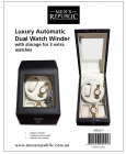 Men's Republic Luxury Automatic Duel Watch Winder with Storage for 3 Extra watches